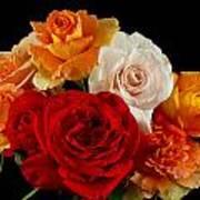 A Rose Bouquet Poster