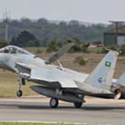 A Royal Saudi Air Force F-15c Landing Poster