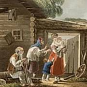 A Russian Peasant Family, 1823 Poster