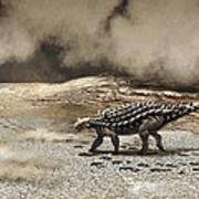A Saichania Chulsanensis Dinosaur Poster