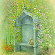 A Seat In The Garden Poster by Garry Walton