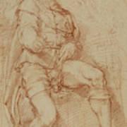 A Seated Man Bernardino Poccetti Barbatelli Poster