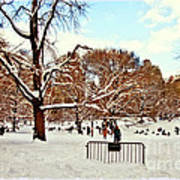 A Snow Day In Central Park Poster