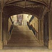 A Staircase, Windsor Castle, From Royal Poster