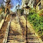 A Stairway In Montmartre Poster