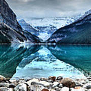 A Still Day At Lake Louise Poster