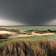 A Storm A Coming - Outer Banks I Poster by Dan Carmichael