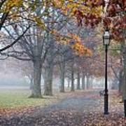 A Stroll In Salem Fog Poster
