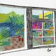 A Summer Garden Poster by Bav Patel