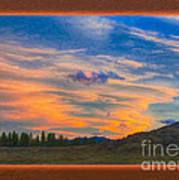 A Surprise Sunset Visit Landscape Painting Poster