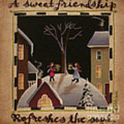 A Sweet Friendship  Winter Poster by Catherine Holman