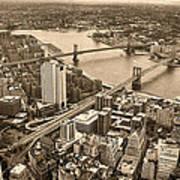A Tale Of Two Bridges 2 Poster by Joann Vitali