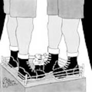 A Tiny Emcee In A Boxing Ring Is Seen Standing Poster