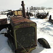 A Tractor In The Snow Poster