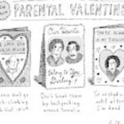 A Triptych Of Parental Valentines Day Cards That Poster