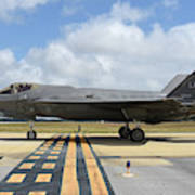 A U.s. Air Force F-35a Taxiing At Eglin Poster