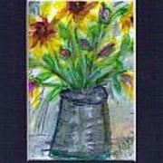A Vase Of Rudbeckia  Poster