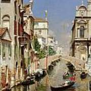 A Venetian Canal  Poster
