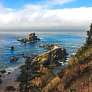 A View From Ecola State Park Poster