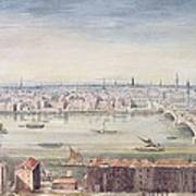 A View Of London From St Pauls To The Custom House, 1837 Poster