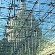 A View Of The Capitol From The Visitor Center Poster