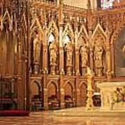 A View Of The St. Patrick Old Cathedral Altar Area Poster