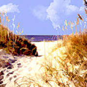 A View Through The Dunes To The Ocean Poster