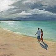 A Walk At Tumon Bay Guam Poster