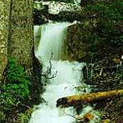 A Waterfall In Spring Thaw Poster by Jeff Swan