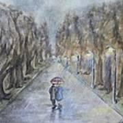 A Wet Evening Stroll Poster