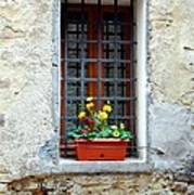 A Window In Tuscany Poster by Mel Steinhauer