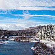 A Winter Wonderland On The Moose River Poster