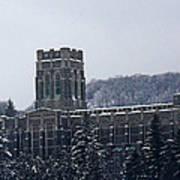A Wintery View Of The Cadet Chapel At The United States Military Academy Poster