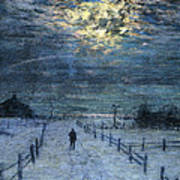 A Wintry Walk Poster by Lowell Birge Harrison