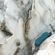 A Woman Sleeping In An Icy Crevasse Poster