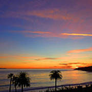Abalone Cove Sunset Poster