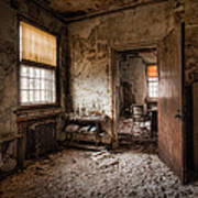 Abandoned Asylum - Haunting Images - What Once Was Poster