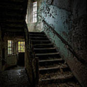 Abandoned Building - Haunting Images - Stairwell In Building 138 Poster by Gary Heller