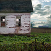 Abandoned Building In A Storm Poster