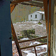 Abandoned Cabin Elkmont Smoky Mountains - Screened Door Old House Poster