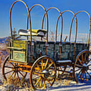 Abandoned Covered Wagon Poster