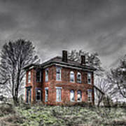 Abandoned Farmhouse Before The Storm Poster