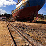 Abandoned Fishing Ship Poster