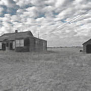 Abandoned Homestead Series Selective Color Poster
