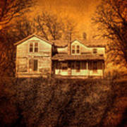 Abandoned House Sunset Poster by Jill Battaglia