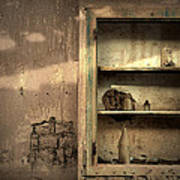Abandoned Kitchen Cabinet Poster