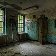 Abandoned Places - Asylum - Old Windows - Waiting Room Poster by Gary Heller