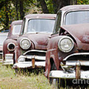 Abandoned Rusted Cars Poster