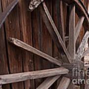 Abandoned Wagon Wheel Poster
