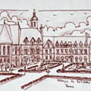Abbaye De Valloires, Argoules, France Poster